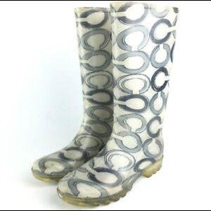 Coach Rain / Snow Boots Size 9